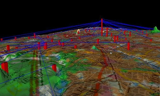 3D view of radio network