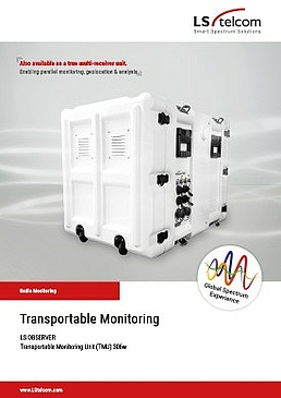 LS OBSERVER: Transportable Monitoring Unit (TMU)